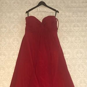 Cranberry Dress ( full length)  altered for 5'3""